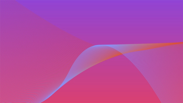 Colorful vibrant 3d wave graphic