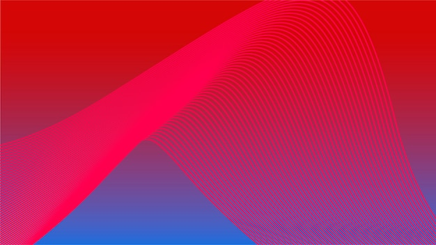 Colorful vibrant 3d wave graphic