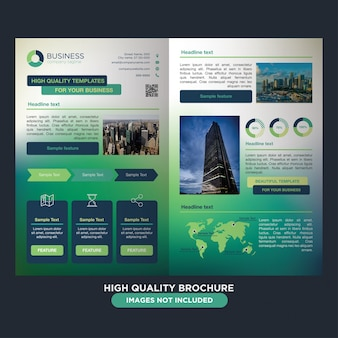 Colorful vibrant brochure for business