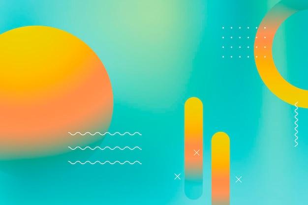 다채로운 활기찬 여름 배경