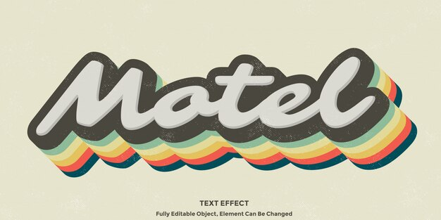 Colorful vintage 3d  text effect