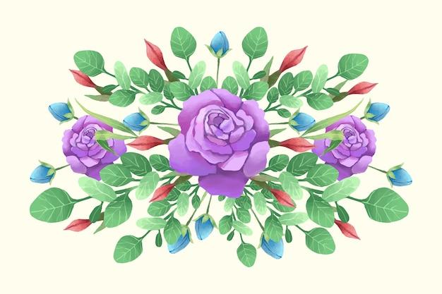 Colorful vintage floral bouquet