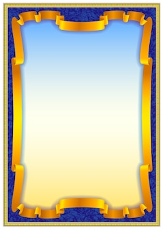 Colorful vintage frame border design