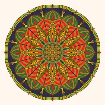 Colorful vintage mandala decoration art
