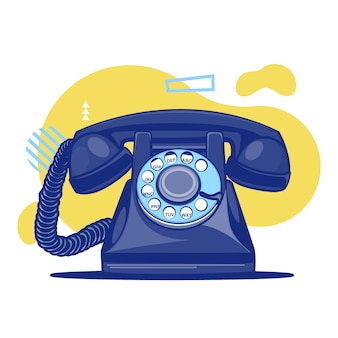 Colorful vintage old telephone background