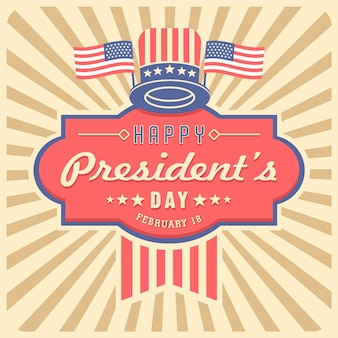 Colorful vintage president's day
