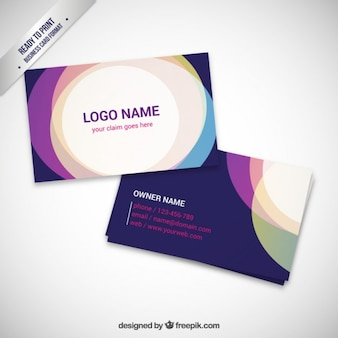 Colorful visit card design