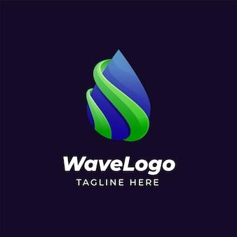 Colorful water drop logo design template
