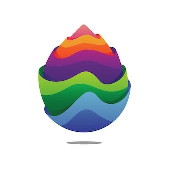 Colorful water drop logo design