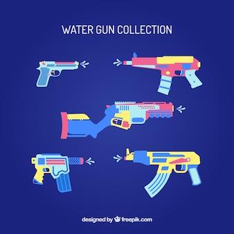 평면 스타일에 화려한 물 총 컬렉션