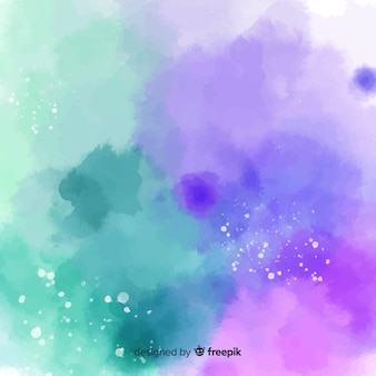 얼룩으로 다채로운 수채화 배경