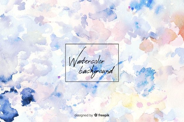 Colorful watercolor background with stains