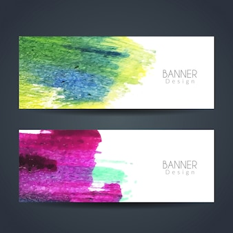 カラフルな水彩バナー