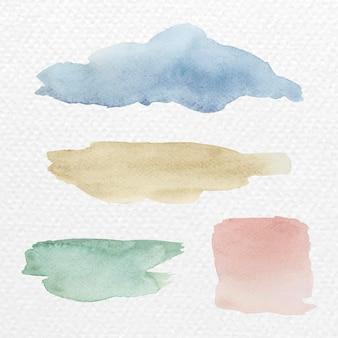 Vettore di sfondo di tratti di pennello acquerello colorato