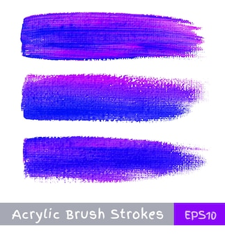 Colorful watercolor brush strokes on canvas,  illustration
