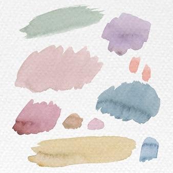 Красочные акварельные мазки