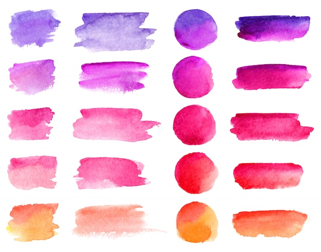 Colorful watercolor brush strokes.