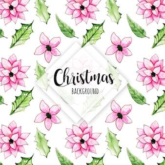 Красочный акварельный фон рождества