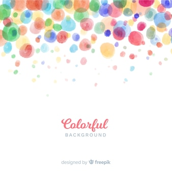 Colorful watercolor circles background