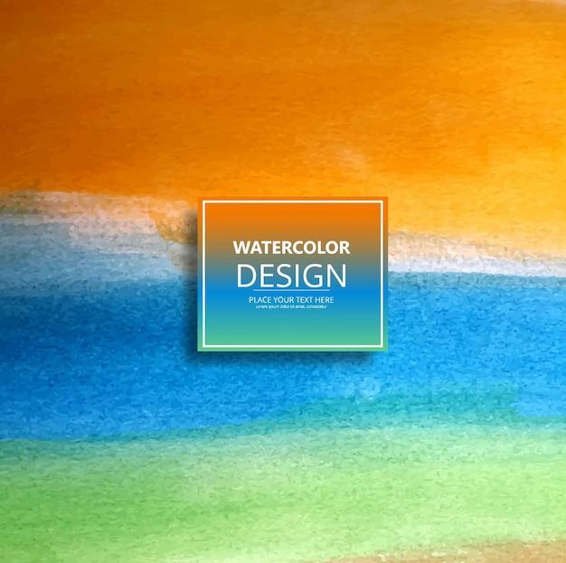Acquerello colorato sfondo Vettore gratuito