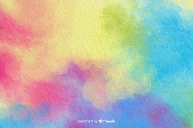 Colorful watercolor effect background