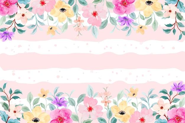 다채로운 수채화 꽃