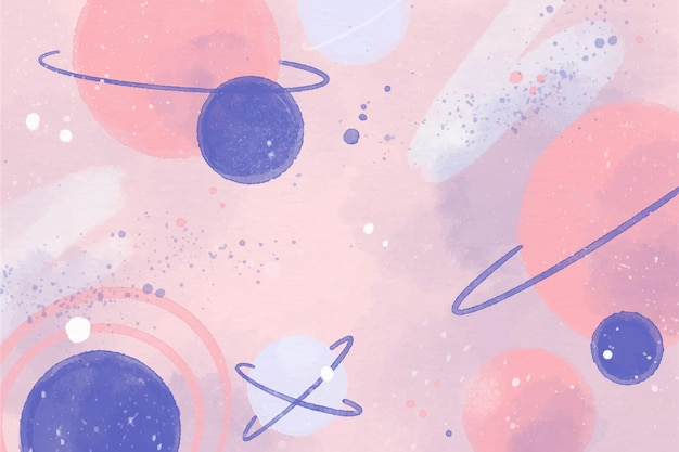 Colorful watercolor galaxy wallpaper