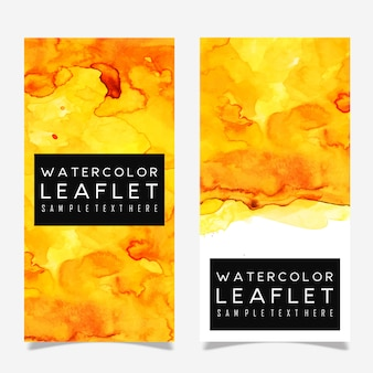 Colorful Watercolor Leaflet Template Design
