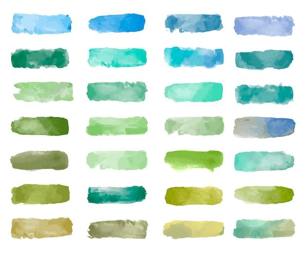 다채로운 수채화 패치 배경 벡터