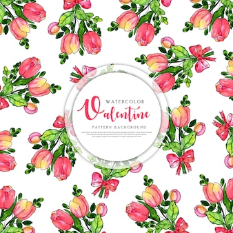 Colorful watercolor pattern background