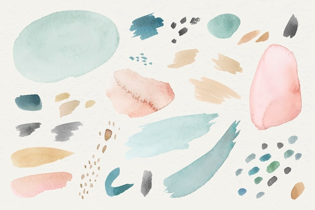 Colorful watercolor patterned background template