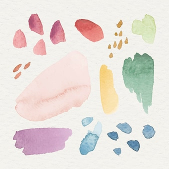 Красочный акварельный узорчатый фон