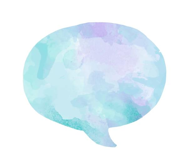 Nuvoletta acquerello colorato