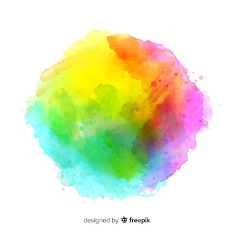 Colorful watercolor splash background