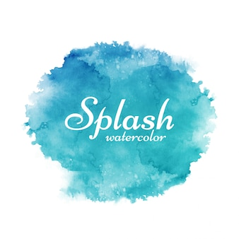 Colorful watercolor splash decorative background