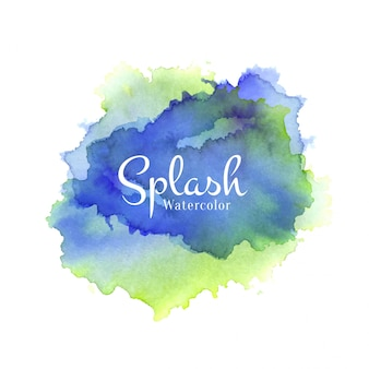 Colorful watercolor splash hand drawn