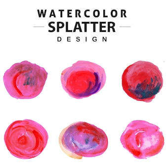 Colorful Watercolor Splatter Collection