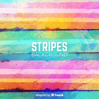 Colorful watercolor stripe background
