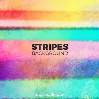 Colorful watercolor stripe background