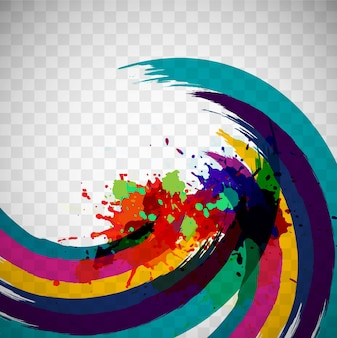 Colorful watercolor waves