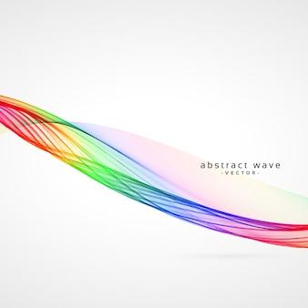 Удивительный красочный дизайн фона волны