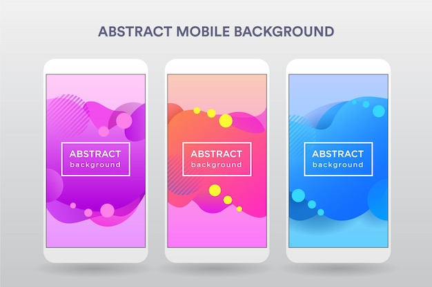 Colorful wave abstract mobile b
