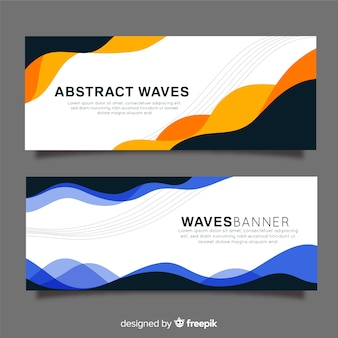 Colorful wave banner template