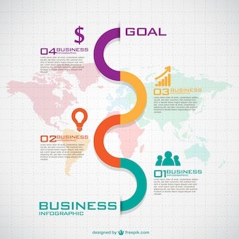 Colorful wave in a business infographic