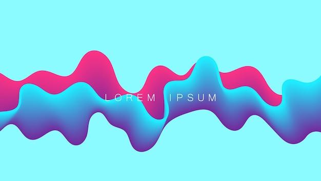 Красочная волна динамический поток фона дизайн. абстрактный волнистый фон с современными цветами градиента.