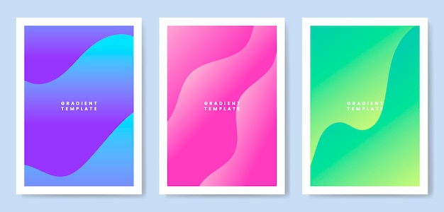 Colorful wave gradient template design