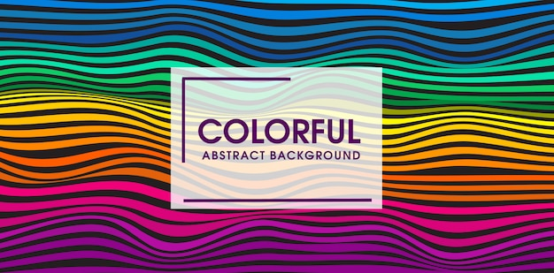 Colorful wave seamless pattern vector background design