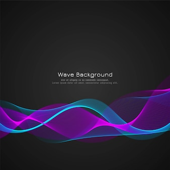 Colorful wave stylish background