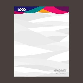Colorful waves letterhead