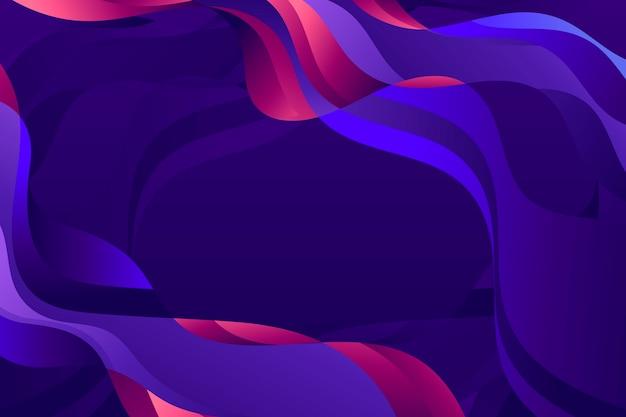 カラフルな波状の抽象的な背景